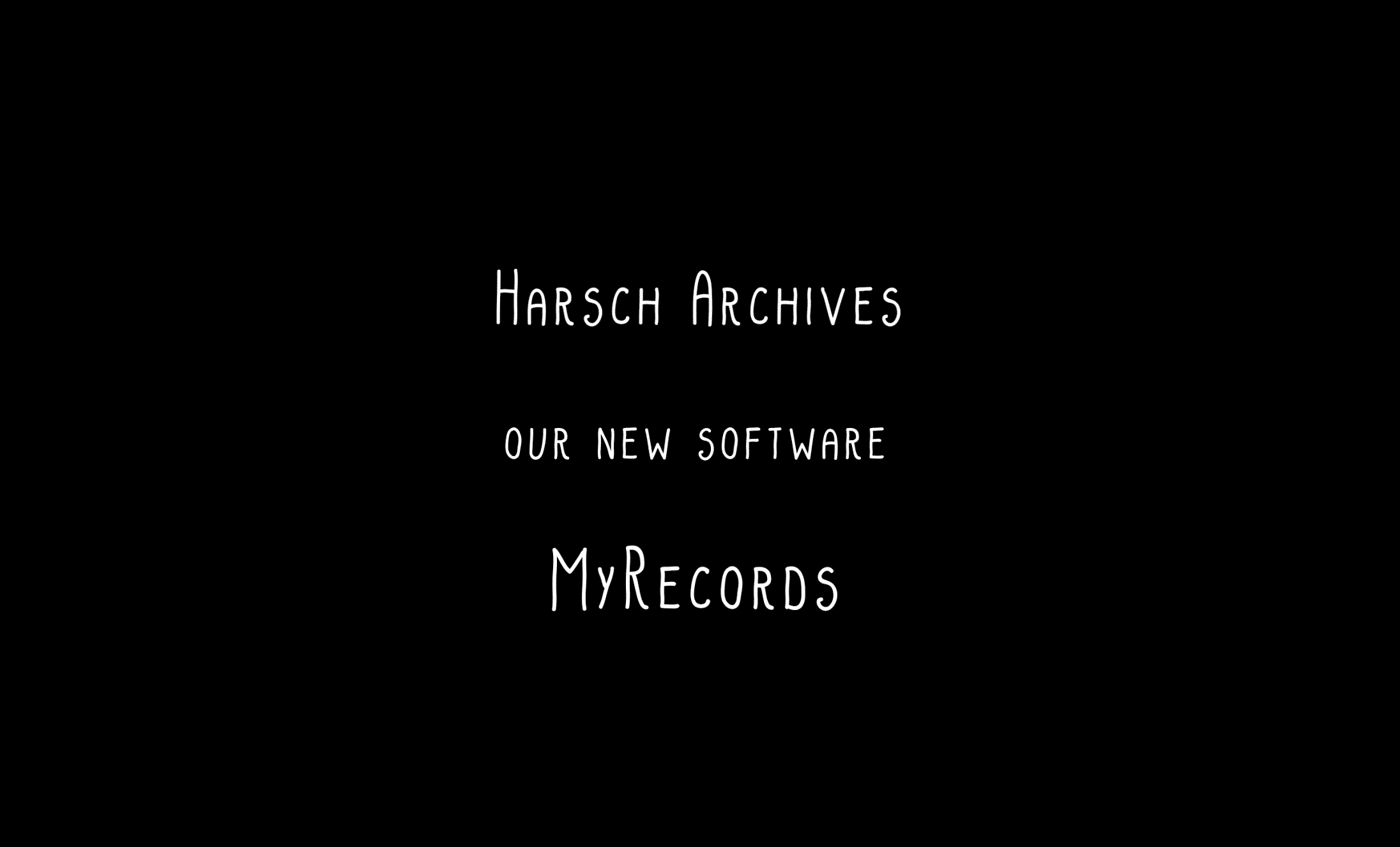 Harsch Online Archivmanagement neuen plattform.